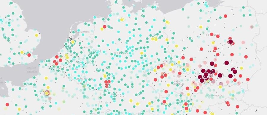 Poziom pyłów zawieszonych, dwutlenku azotu czy dwutlenku siarki od czwartku można sprawdzać na interaktywnej mapie jakości powietrza w Europie, gdzie co roku z powodu smogu przedwcześnie umierają setki tysięcy ludzi.