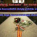 Polskie kwiaty na grobie  faszystowskiego zbrodniarza