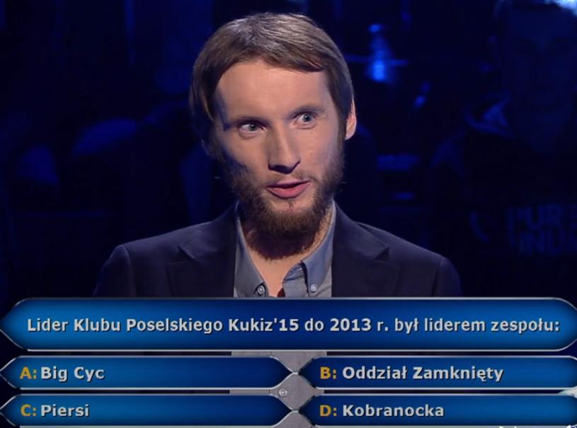 """Student amerykanistyki Przemysław Winzer szedł jak burza w """"Milionerach"""", momentami sporo ryzykując."""