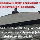 Michaił Saakaszwili lata po dachach w Kijowie