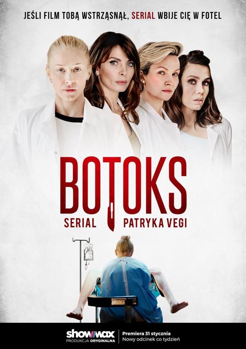 """31 stycznia Showmax pokaże pierwszy odcinek serialu """"Botoks"""" Patryka Vegi. """"Jeśli film tobą wstrząsnął, serial wbije Cię w fotel"""" - tak reklamowana jest rozszerzona wersja kinowego hitu."""