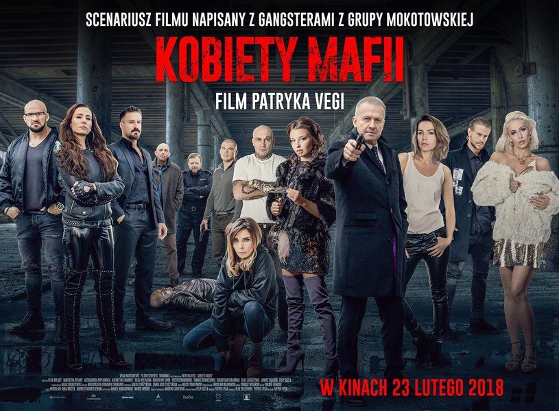 """Patryk Vega zaprezentował oficjalny zwiastun kinowy dystrybutora swego nowego filmu """"Kobiety mafii""""."""