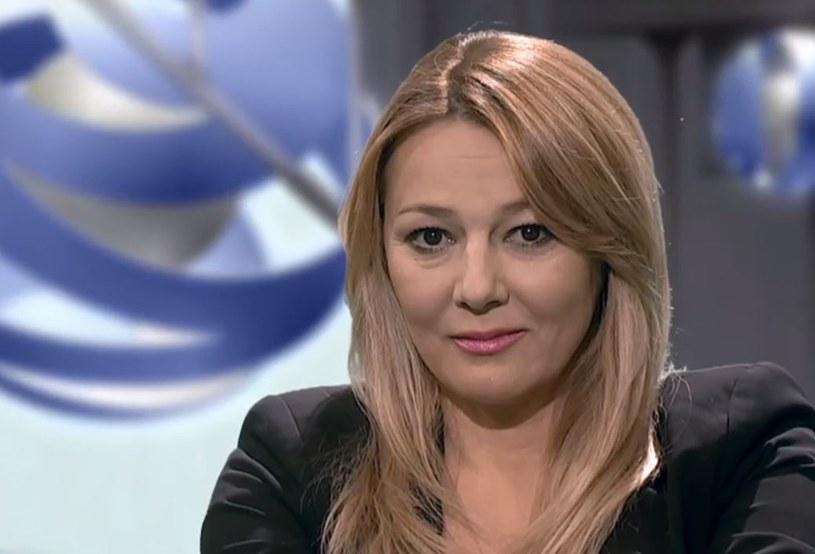 """W środę, 17 stycznia, aktorka Katarzyna Kwiatkowska zadebiutowała w programie TVN24 """"Szkło kontaktowe""""."""