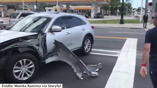 11 marca na jednej z ulic Miami w Stanach Zjednoczonych doszło do kolizji kilku samochodów. Sprawca uciekł z miejsca wypadku, mimo że próbowali go powstrzymać świadkowie zdarzenia, a także przechodnie i kierowcy postronnych samochodów. Jeden z mężczyzn zaczął wybijać szyby w samochodzie winowajcy... młotem, ale i to nie zatrzymało go przed ucieczką. (STORYFUL/x-news)