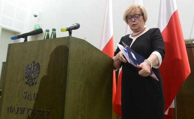 Jest prawie pewne, że jest to ostatnie takie zgromadzenie. Wejście w życie nowej ustawy o SN doprowadzi do niekonstytucyjnego ukształtowania ustroju SN - powiedziała I prezes Sądu Najwyższego Małgorzata Gersdorf podczas Zgromadzenia Ogólnego Sędziów SN.