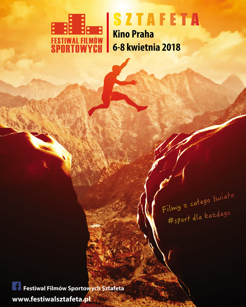 Już 6 kwietnia w warszawskim kinie Praha rozpocznie się Festiwal Filmów Sportowych Sztafeta. Widzowie obejrzą prawdziwe historie ludzi oddanych sportowej pasji, opowiedziane przez filmowców z całego świata.