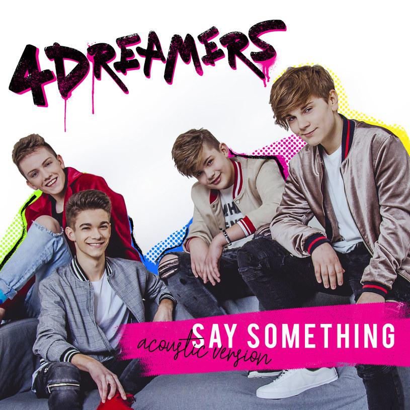 """Poniżej możecie zobaczyć akustyczną wersję przeboju """"Say Something"""" Justina Timberlake'a i Chrisa Stapletona. Odpowiada za nią zespół 4Dreamers, który stworzyli uczestnicy pierwszej polskiej edycji """"The Voice Kids""""."""