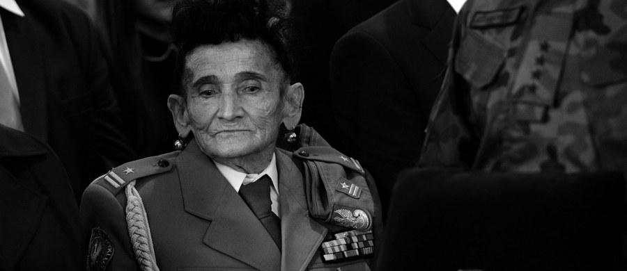 """Żona Aleksandra Życińskiego """"Wilczura"""" - major Józefa Życińska. /Piotr Polak /PAP"""