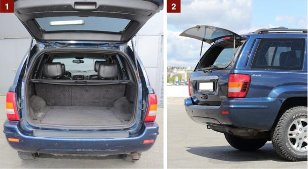 [1] Bagażnik ma wysoko poprowadzoną podłogę, a pojemność wynosi od 431 do 1105 l. [2] Wyposażenie standardowe: otwierana tylna szyba. Przydaje się stosunkowo często. /Motor