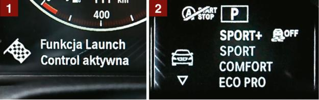"""[1] Funkcja Launch Control umożliwia """"katapultowanie się"""" od 0 do 100 km/h w ok. 5 sekund. [2] Cztery tryby jazdy różnią się m.in. sztywnością zawieszenia oraz reakcją na dodanie gazu. /Motor"""