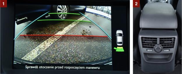 [1] Kamera cofania jest opcjonalna – kosztuje 1000 zł. [2] Z tyłu są nawiewy i gniazdo 12V. /Motor