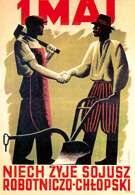 1 Maj. Niech żyje sojusz robotniczo-chłopski, plakat Konstantego Sopoćki, 1948 /Encyklopedia Internautica