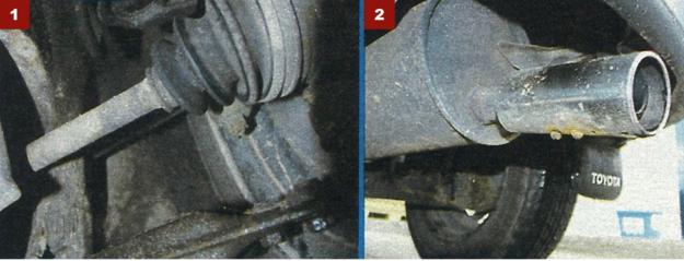 [1] Przeguby napędowe i przednie zawieszanie nie sprawiają kłopotów. [2] Trwałość układu wydechowego nie budzi żadnych zastrzeżeń. /Motor
