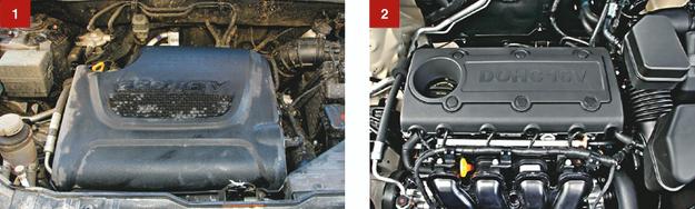 [1] Silnik wysokoprężny 2.2 CRDi jest oszczędny, ale mniej trwały niż np. 1.6 CRDi znany z Cee'da. [2] Jeśli ktoś mało jeździ, powinien wybrać wersję benzynową 2.4 – jest bezproblemowa. /Motor