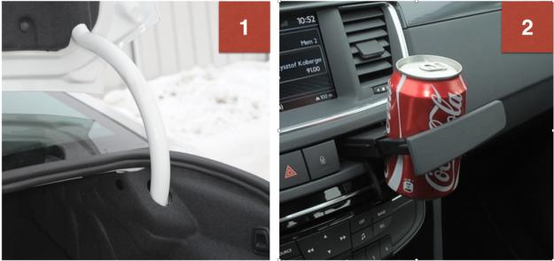 1. W deszczu, po otwarciu bagażnika sedana do środka leje się woda. 2. Niepraktyczne uchwyty na kubki. W kabinie jest mało schowków. /Motor