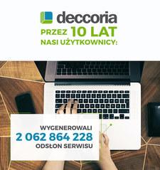 10. urodziny obchodzi Deccoria.pl