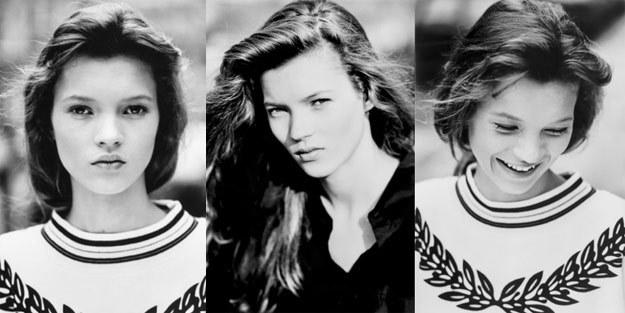 14-letnia Kate Moss w obiektywie Davida Rossa - fot. bloomsburyauctions.com /
