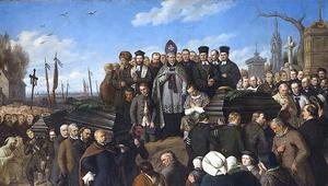 2 marca 1861 r. Pogrzeb pięciu poległych