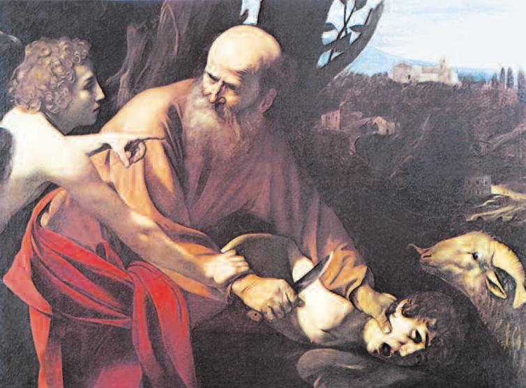2 Ofiara Abrahama, obraz Caravaggia, ok. 1603-04 2 Ofiara Abrahama, obraz Caravaggia, ok. 1603-04 /Encyklopedia Internautica