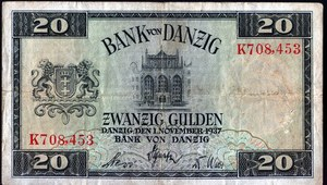 20 października 1923 r. Wprowadzono gdańskie guldeny