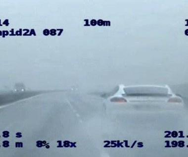 200 km/h Porsche na prostej. Policja nie była wolniejsza