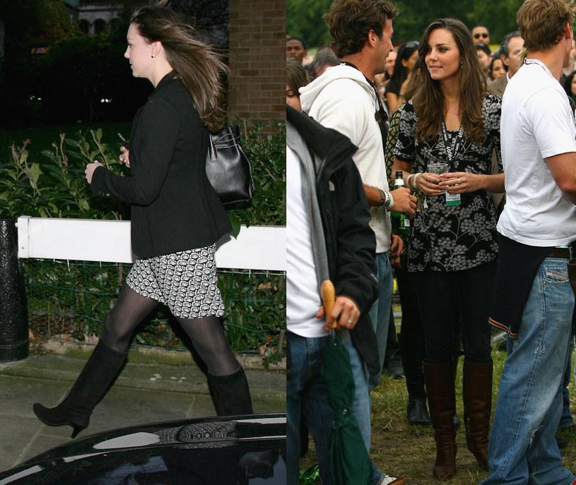 2007 i 2008 rok - Nieodzownym elementem stylizacji Kate były kozaki  /Getty Images/Flash Press Media