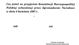25 maja 1997 r. Referendum konstytucyjne