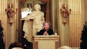 3 października 1996 r. Wisława Szymborska z Noblem