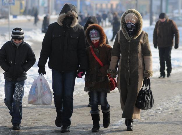 30-stopniowe mrozy na Ukrainie /AFP