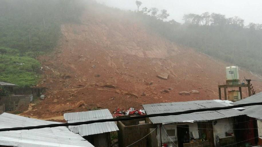 312 osób zginęło na obrzeżach stolicy Sierra Leone /SOCIETY FOR CLIMATE CHANGE COMMUNICATION SIERRA LEONE / HANDOUT /PAP/EPA