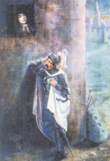 4 Aldona i Konrad, T. Gadomski, ilustracja do Konrada Wallenroda 4 Aldona i Konrad, T. Gadomski, ilustracja do Konrada Wallenroda /Encyklopedia Internautica