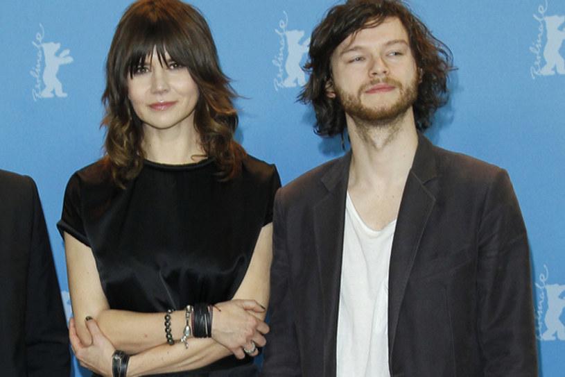 40-letnia reżyserka Małgorzata Szumowska, która niedawno poślubiła 26-letniego aktora Mateusza Kościukiewicza. W grudniu parze urodziła się córka /AKPA
