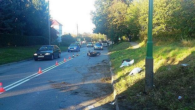 44-letniej motocyklistki nie udało się uratować /fot. materiały policji /Policja