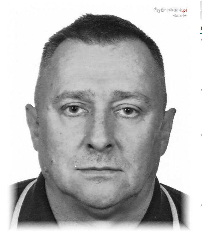 50-letni mieszkaniec Tychów Mariusz Dąbrowski /Policja
