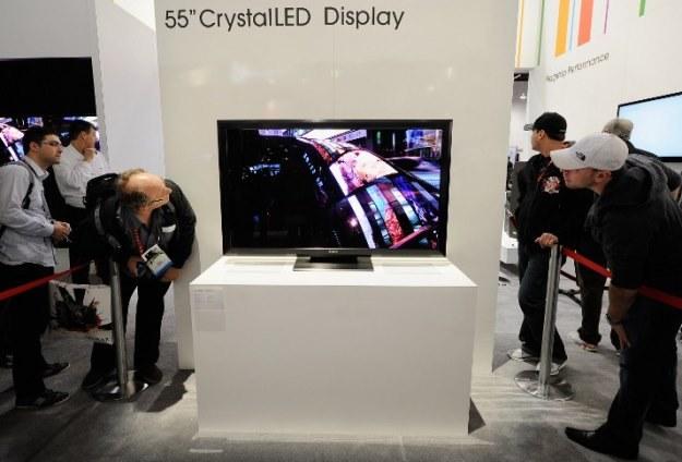 55-calowy telewizor 4K marki Sony - niedługo trafi do sprzedaży. Czy 4K będzie sukcesem? /AFP