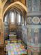 Ściany Kaplicy Trójcy Świętej pokrywają piękne freski w stylu rusko-bizantyjskim. Na podłodze znajduje się współczesna instalacja Leona Tarasewicza