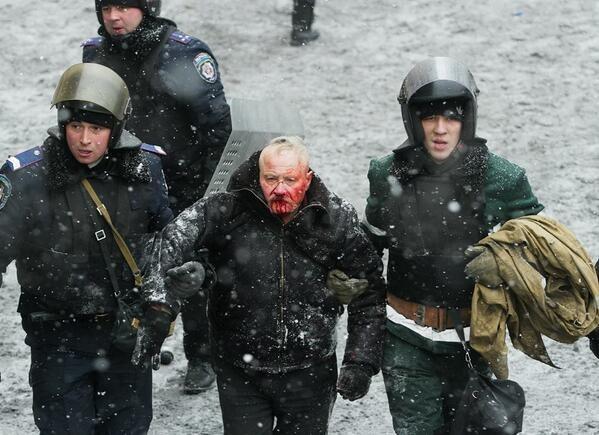 83-letni Iwan Nakonieczny zmarł 7 marca w wyniku odniesionych na Majdanie obrażeń /Euro Majdan PR /