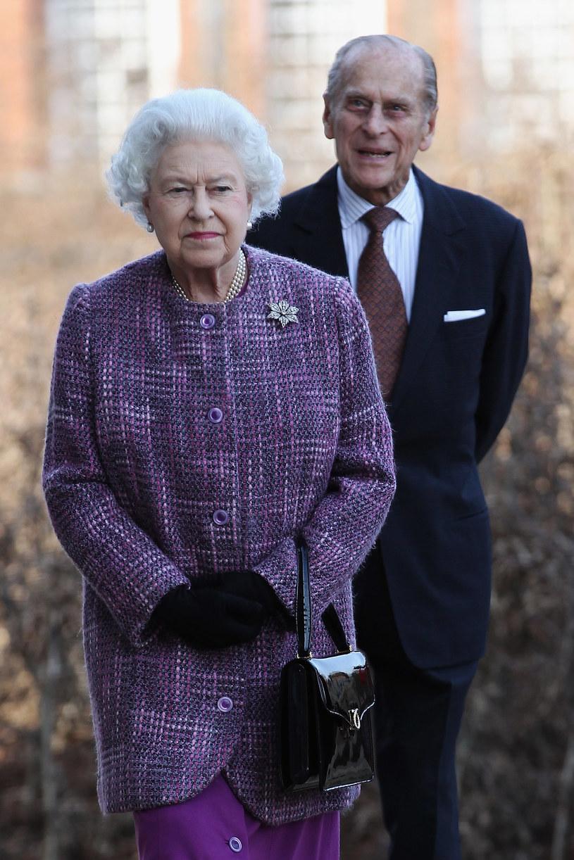 86-letnia królowa Elżebieta II z mężem, 90-letnim księciem Filipem /Getty Images