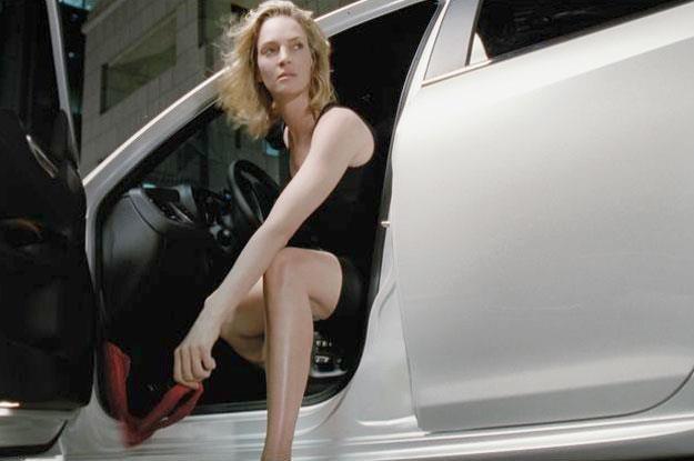 ...a na końcu drogi czeka piękna kobieta. Na zdjęciu Uma Thurman w reklamie Giulietty /