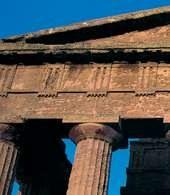 Abakus: fragment świątyni w stylu doryckim, Agrygent (Sycylia) /Encyklopedia Internautica