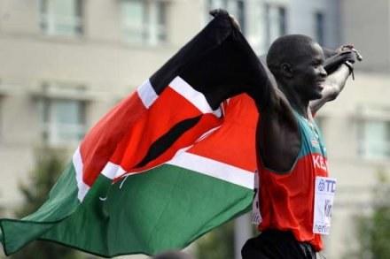 Abel Kirui - nowy mistrz świata w maratonie /AFP