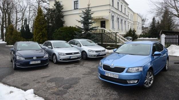 Aby ustalić, w której klasie jest Octavia, porównaliśmy ją z 3 modelami Volkswagena. /Motor