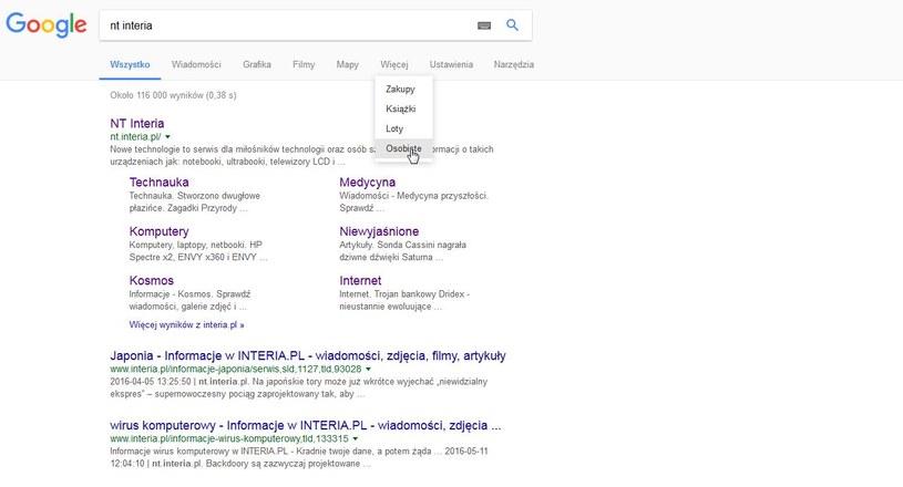 Aby uzyskać dostęp do nowej funkcji, musimy kliknąć na zakładkę pokazaną na zrzucie ekranu /INTERIA.PL