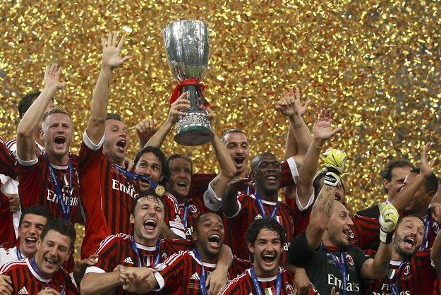 AC Milan z Superpucharem Włoch. /PAP/EPA