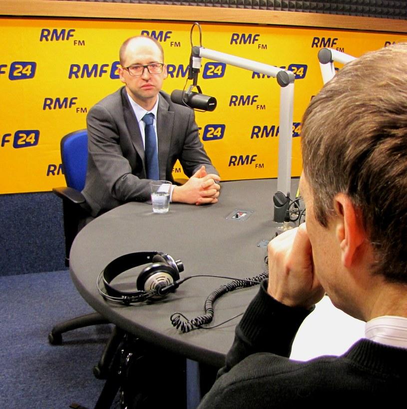 Adam Bielan w Kontrwywiadzie RMF FM /Magdalena Jednacz /RMF FM