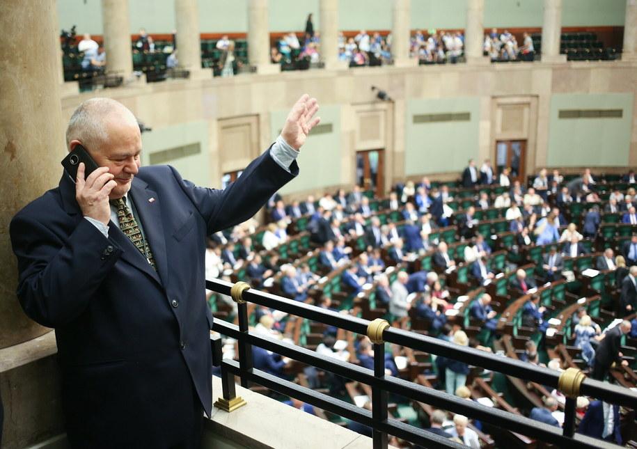 Adam Glapiński na sejmowej galerii, podczas posiedzenia Sejmu /Leszek Szymański /PAP