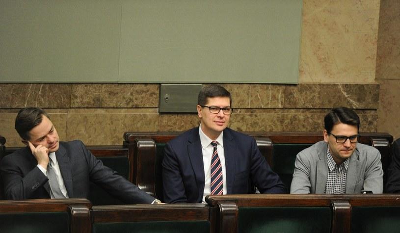 Adam Hofman, Adam Rogacki i Mariusz Antoni Kamiński /East News