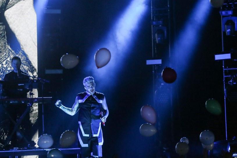 Adam Lambert na Torwarze /Fot. Agata Grzybowska /