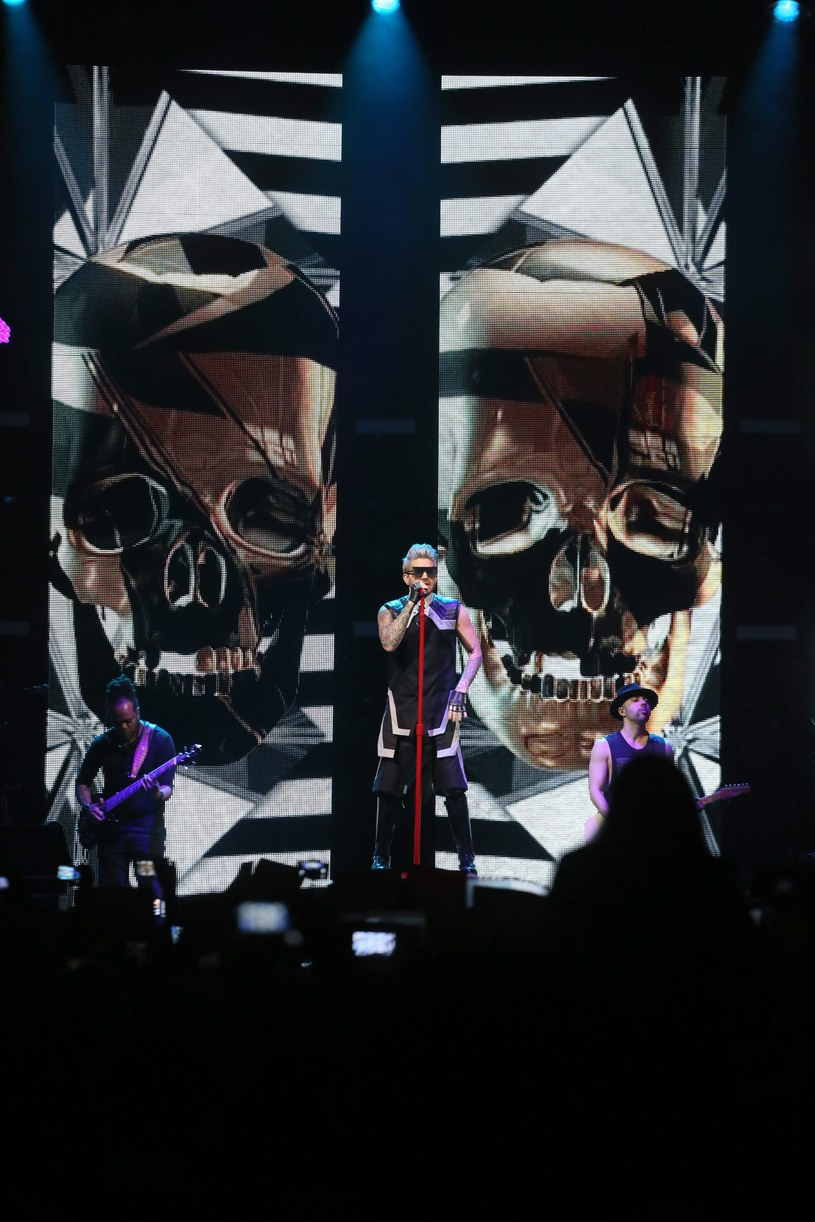 Adam Lambert w Warszawie /Fot. Agata Grzybowska /