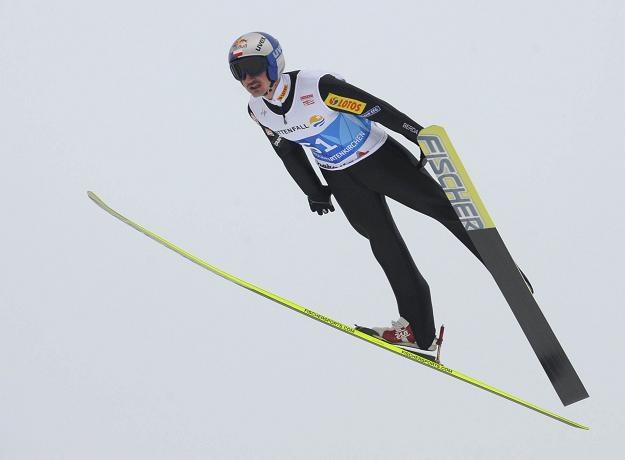 Adam Małysz na skoczni w Bischofshofen /AFP
